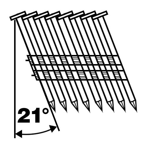 21 degree framing nails with plastic collated