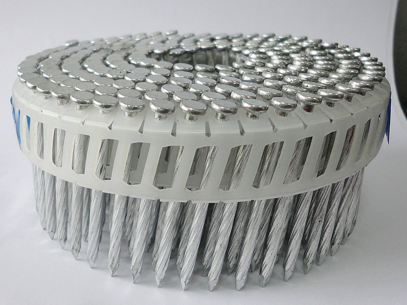 coil nails with plastic collated
